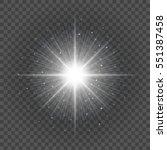 sun with lens flare lights... | Shutterstock .eps vector #551387458