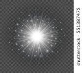 sun with lens flare lights...   Shutterstock .eps vector #551387473