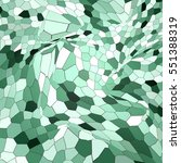 abstract background green mosaic | Shutterstock . vector #551388319