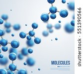 abstract molecules design.... | Shutterstock .eps vector #551390566