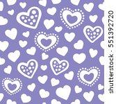 hearts seamless pattern... | Shutterstock .eps vector #551392720