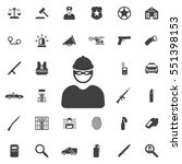 robber icon. police set of icons | Shutterstock .eps vector #551398153