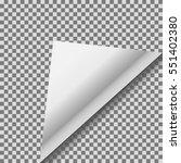 folded up white foil blank... | Shutterstock .eps vector #551402380