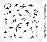 hand drawn arrows  vector set   Shutterstock .eps vector #551403106