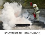 instructor showing how to use a ... | Shutterstock . vector #551408644