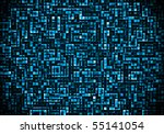 Abstract square background,  blue shade - stock photo
