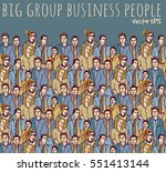 business people color big group....
