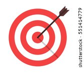 target arrow flat icon. arrow... | Shutterstock .eps vector #551414779