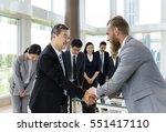 business partners... | Shutterstock . vector #551417110
