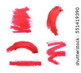 collection of red lipstick...   Shutterstock . vector #551419390