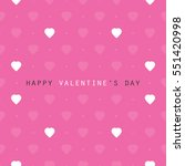 valentine's day card or... | Shutterstock .eps vector #551420998