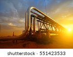 oil pipeline  the oil industry... | Shutterstock . vector #551423533