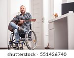 positive handicapped man proud... | Shutterstock . vector #551426740