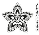 vector floral design  flower... | Shutterstock .eps vector #551427754