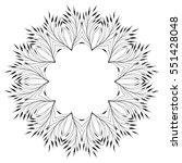 vector floral ornament pattern  ... | Shutterstock .eps vector #551428048