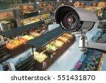 cctv camera system security in... | Shutterstock . vector #551431870