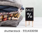 shopping   warm sweaters and... | Shutterstock . vector #551433058