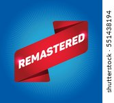 remastered arrow tag sign. | Shutterstock .eps vector #551438194
