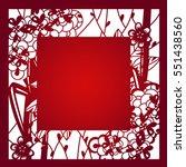 laser cut flower asian china...   Shutterstock .eps vector #551438560