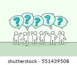 crowd of  little people with... | Shutterstock .eps vector #551439508