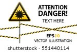 caution   danger  warning sign... | Shutterstock .eps vector #551440114