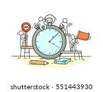 sketch of stopwatch with... | Shutterstock .eps vector #551443930