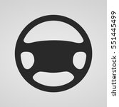 steering wheel icon isolated.... | Shutterstock .eps vector #551445499