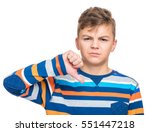 close up emotional portrait of... | Shutterstock . vector #551447218