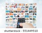 multimedia video wall... | Shutterstock . vector #551449510