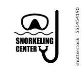 logotype for snorkeling center... | Shutterstock .eps vector #551454190