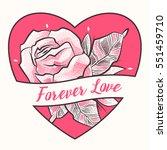 forever love. dotted flower... | Shutterstock .eps vector #551459710
