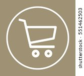 cart  icon. flat design. | Shutterstock .eps vector #551462503