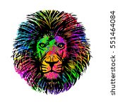 abstract isolated lion's head... | Shutterstock .eps vector #551464084