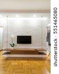 living room interior   tv stand ... | Shutterstock . vector #551465080