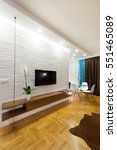 living room interior   tv stand ... | Shutterstock . vector #551465089