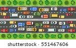 road top view with highways... | Shutterstock .eps vector #551467606