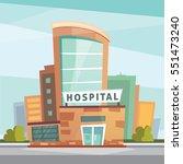 hospital building cartoon... | Shutterstock .eps vector #551473240