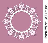 circle frame with lace border... | Shutterstock .eps vector #551474104