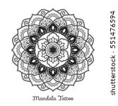 mandala decorative ornament... | Shutterstock .eps vector #551476594