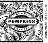 retro pumpkin harvest label... | Shutterstock .eps vector #551477248