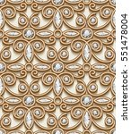 vintage gold ornament  vector... | Shutterstock .eps vector #551478004