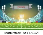 american football field with... | Shutterstock .eps vector #551478364