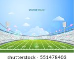 american football field with... | Shutterstock .eps vector #551478403