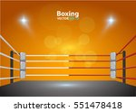 boxing ring with illumination... | Shutterstock .eps vector #551478418