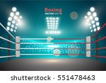 boxing ring with illumination... | Shutterstock .eps vector #551478463