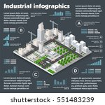 city isometric industry... | Shutterstock .eps vector #551483239