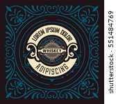 whiskey card with old frame | Shutterstock .eps vector #551484769