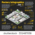 city isometric industrial... | Shutterstock .eps vector #551487058