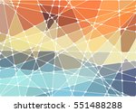 abstract geometric mosaic... | Shutterstock .eps vector #551488288