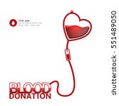colored blood donation graphic... | Shutterstock .eps vector #551489050
